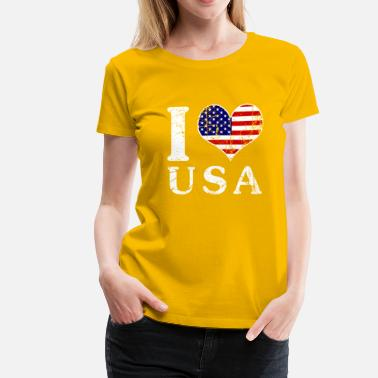 I Love Usa I LOVE USA (white) - Women's Premium T-Shirt