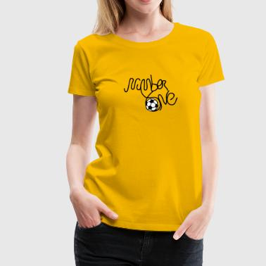 number one soccer - Women's Premium T-Shirt