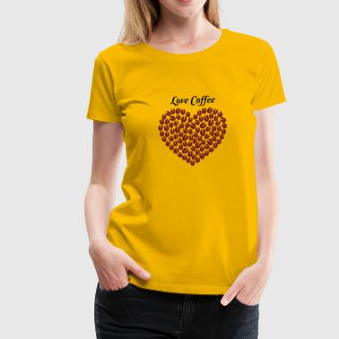 Seeing Love heart coffee T shirt Design Funny Coffee Love - Women's Premium T-Shirt