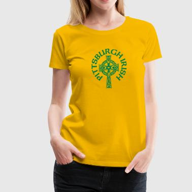 Pittsburgh Irish Celtic Cross apparel Clothing - Women's Premium T-Shirt
