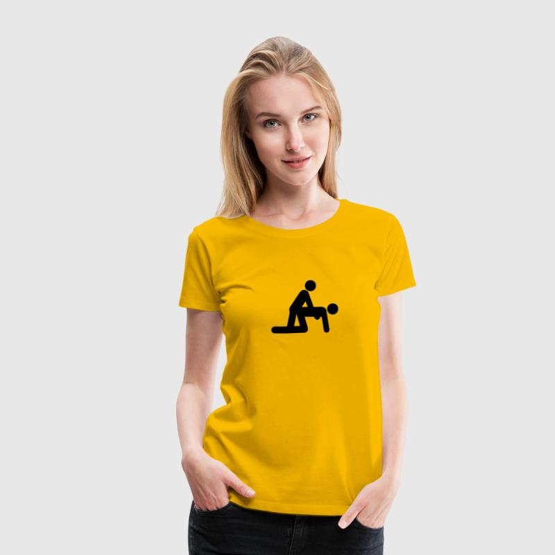 sex position doggy love icon 1012 - Women's Premium T-Shirt