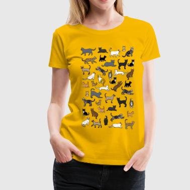 many cat pixel - Women's Premium T-Shirt
