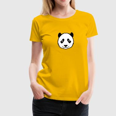 animal panda head teddy 13053 - Women's Premium T-Shirt