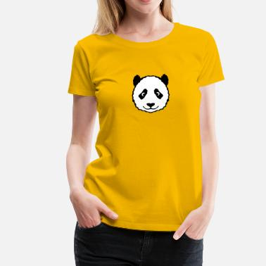 Panda Teddy animal panda head teddy 13053 - Women's Premium T-Shirt
