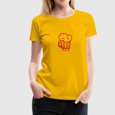 beer icon drawing 101041 - Women's Premium T-Shirt
