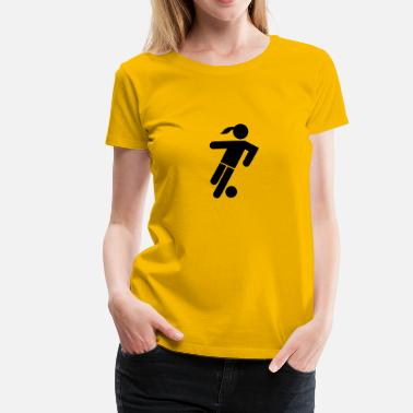 Icon Soccer Player Girl Icon - Women's Premium T-Shirt
