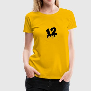 Number 12 Graffiti - Women's Premium T-Shirt