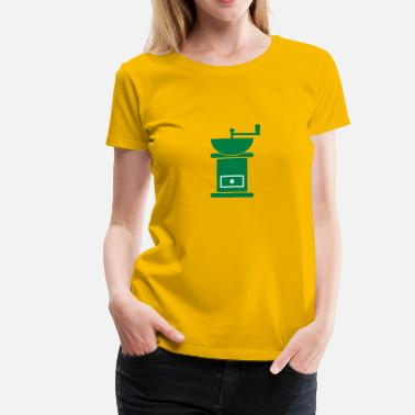 Hoagies Coffee Bean Grinder - Women's Premium T-Shirt