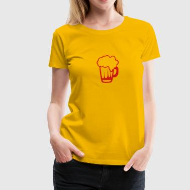 beer icon drawing 91022 - Women's Premium T-Shirt