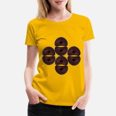 Colorful Circles novaneon planet - Women's Premium T-Shirt