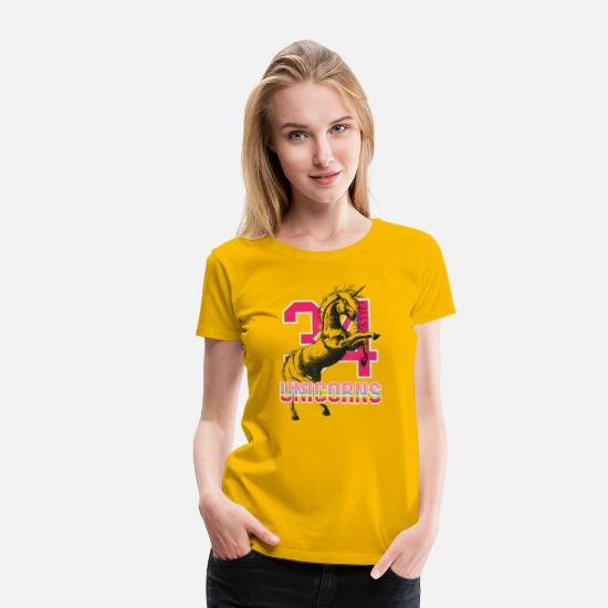 Girlie T-Shirts - 34 unicorns - Women's Premium T-Shirt sun yellow