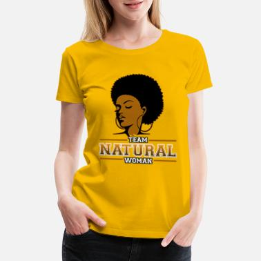 African American College Team Natural Woman African American Black Girls - Women's Premium T-Shirt
