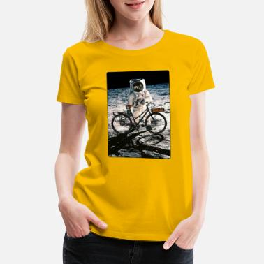 Conquer T-Shirt this way it's easy, ride bike on the Moon - Women's Premium T-Shirt