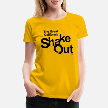 shakeoutCAlogowithwords - Women's Premium T-Shirt