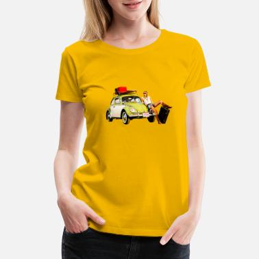 Beetle Meeting Hippie Beetle Girl - Women's Premium T-Shirt