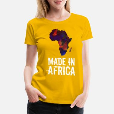 Africa Map Designs Made In Africa - Women's Premium T-Shirt
