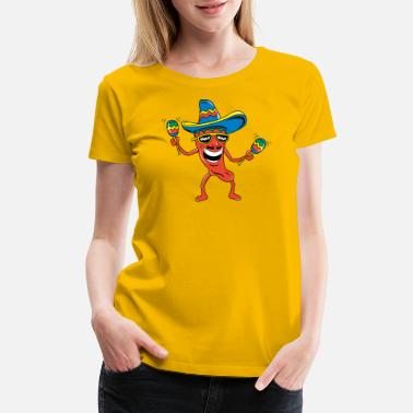 Mexican Chili Pepper - Women's Premium T-Shirt