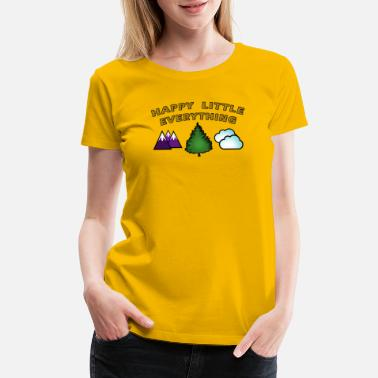 Mister Rogers Happy Little Everything - Women's Premium T-Shirt
