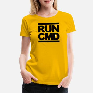 Run Dmc run cmd Funny Parody DMCs - Women's Premium T-Shirt