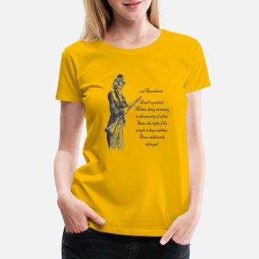 Uncle Sam and the 2nd - Women's Premium T-Shirt