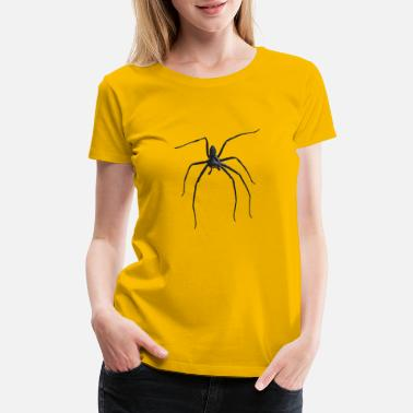 Silhouette Insects Creepy Realistic Spider Long Legs Disgusting Gift - Women's Premium T-Shirt