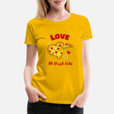 Vday Love at First Bite | Pizza Lover - Women's Premium T-Shirt