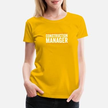 Road Crew Construction Manager Safety TShirt for Crew Worker - Women's Premium T-Shirt