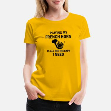 French Horn Merchandise frenchhorn design - Women's Premium T-Shirt