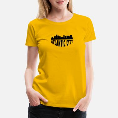 Atlantic City Nj Atlantic City NJ Cityscape Skyline - Women's Premium T-Shirt