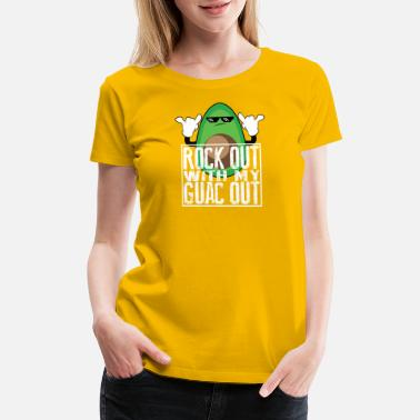 Kick Rocks Funny Rock Out with My Guac Out – Funny Vegan Gift - Women's Premium T-Shirt