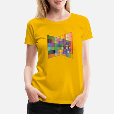 Multi Colored Multi Color plane with lines - Women's Premium T-Shirt