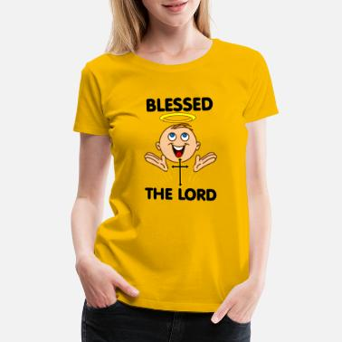 Hallo 'angel Blessed the lord' white skin - Women's Premium T-Shirt