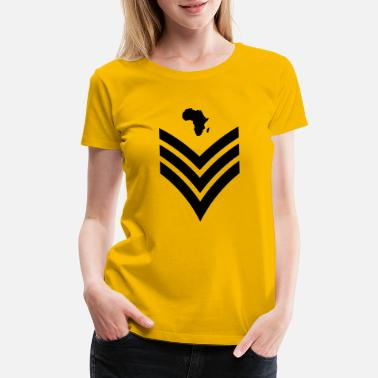 Army Rank Afrikan Major - Women's Premium T-Shirt