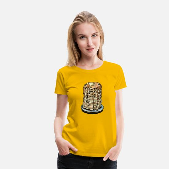 Graphic T-Shirts - Tower Of Pancakes Graphic - Women's Premium T-Shirt sun yellow