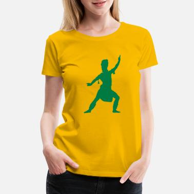 Asian Painting Asian silhouette - Women's Premium T-Shirt