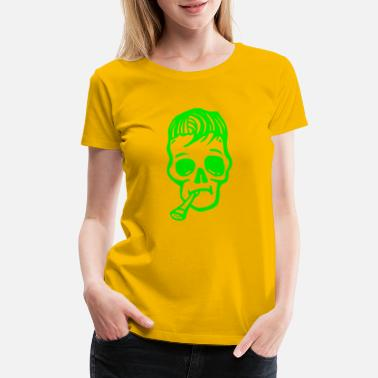Graffiti Character Shape skull man head tatoo cartoon vector image - Women's Premium T-Shirt