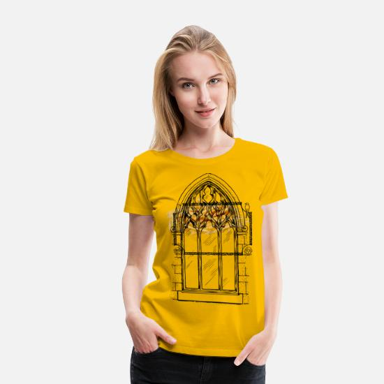 Young T-Shirts - bird and child frame - Women's Premium T-Shirt sun yellow