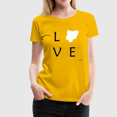 Love Nigeria (White Map) - Women's Premium T-Shirt
