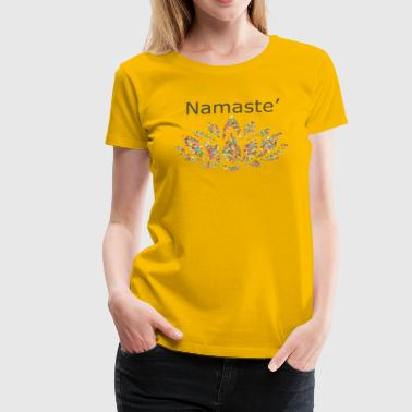 Namaste with Lotus Flower - Women's Premium T-Shirt