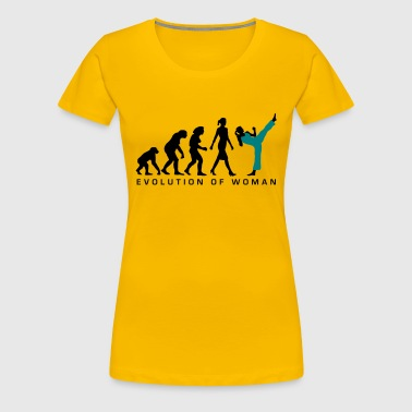 evolution_female_martial_art_112014_b_2c - Women's Premium T-Shirt