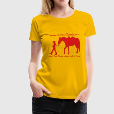 Horse N Diamond - Women's Premium T-Shirt