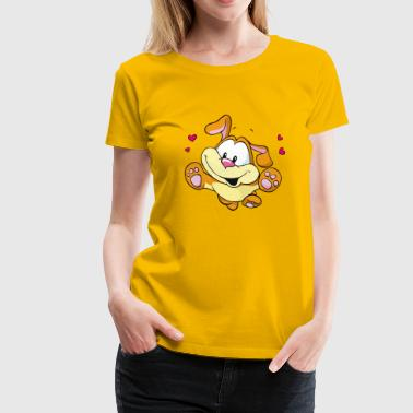 Cute Lovely Dog Running - Women's Premium T-Shirt