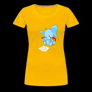 Cute Elephant Drawing Pictures - Women's Premium T-Shirt