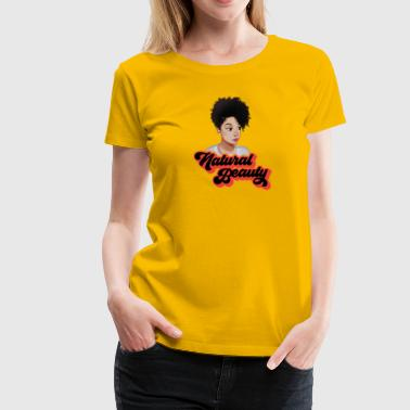 Curly Natural Afro Beauty - Women's Premium T-Shirt