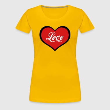 17 Heart in Love Enamoured Lovers - Women's Premium T-Shirt