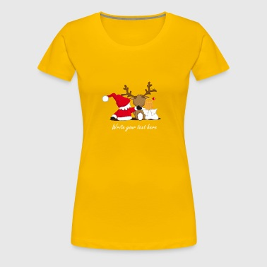 Santa Claus, reindeer and an angel - Women's Premium T-Shirt