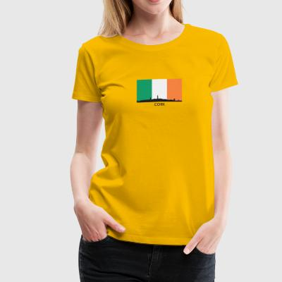 Cork Ireland Skyline Irish Flag - Women's Premium T-Shirt