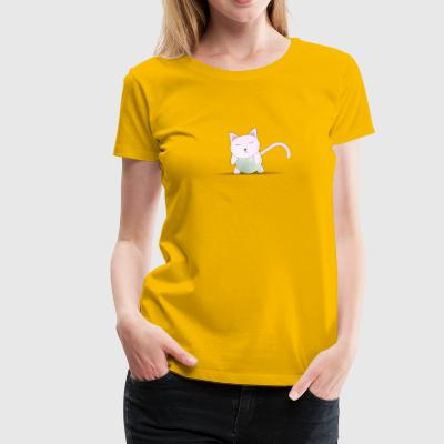 adam lowe Kitty on Tennis Ball 2400px - Women's Premium T-Shirt