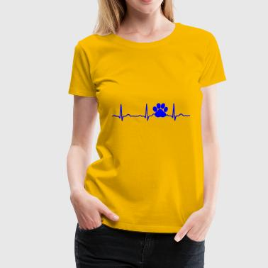 GIFT - ECG DOG PAW BLUE - Women's Premium T-Shirt