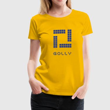 Golly golly logo (square) - Women's Premium T-Shirt